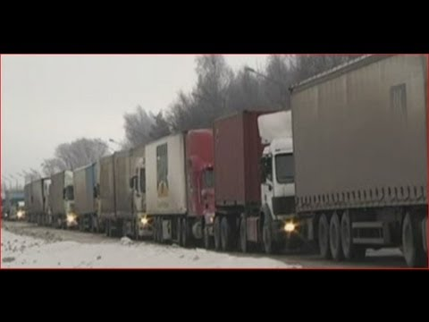 Russia Drivers Trapped in Giant Traffic Jam - Aerial View