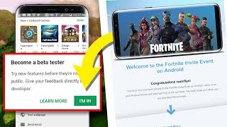 NEW Fortnite Android BETA Sign Up Email UPDATE LEAKS