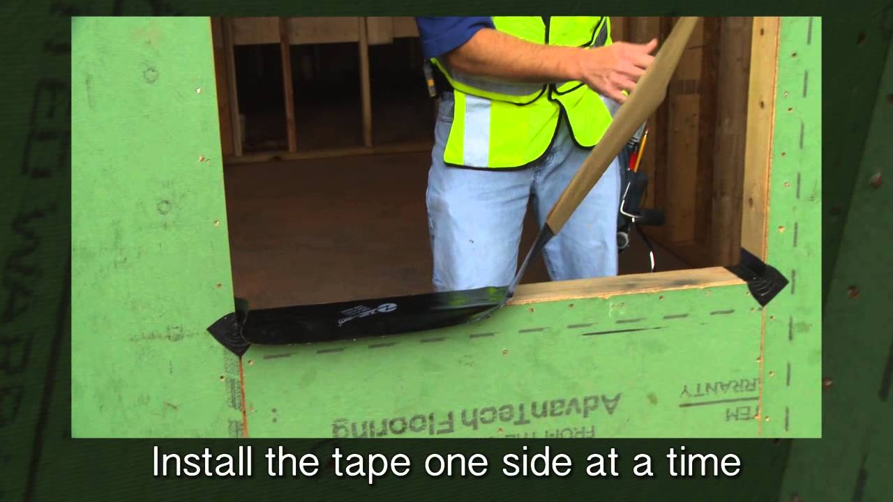 Flashing A Window With Zip System Flashing Tape English