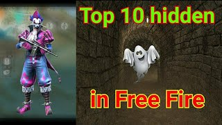 😱 Top 10 hidden place 🤫 || in free fire 😍|| NG 💝💝||