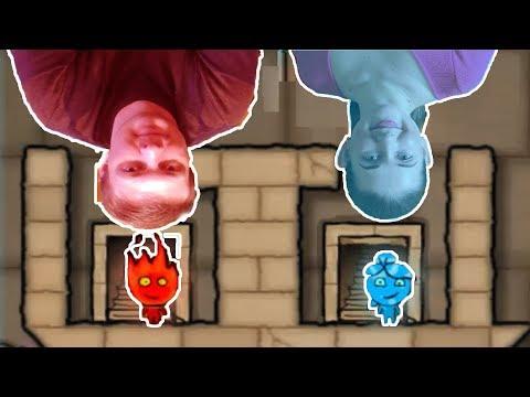 ПРИКЛЮЧЕНИЯ ОГОНЬ и ВОДА в светлом храме #1  Развлекательное видео для детей  Игровой мультик