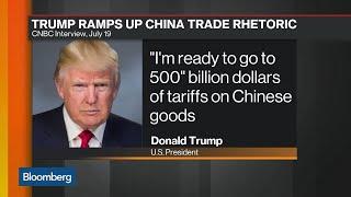 "Trump Signals 'Ready to Go"" on $500 Billion China Tariffs"
