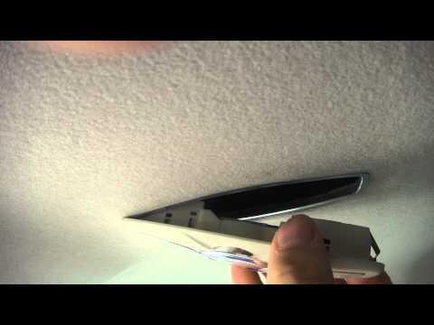Видео как снять плафон