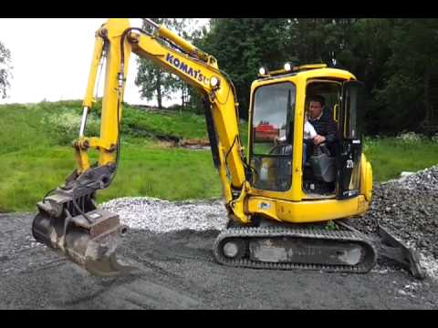 Kjøre gravemaskin