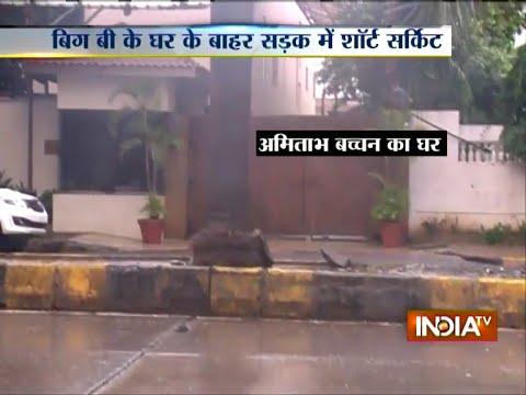 Mumbai Rain: Short circuit outside Amitabh Bachchan house in Mumbai   India Tv