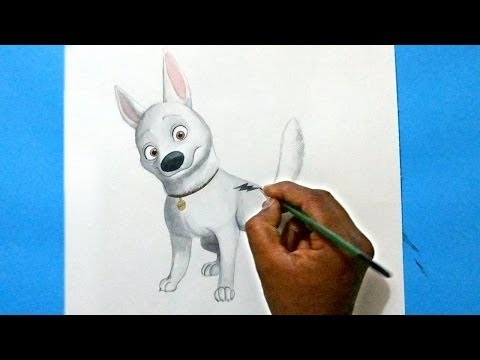 How To Draw Dog (bolt) From Bolt Movie video