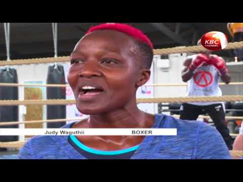 Kenyan female boxer, Judy Waguthii, feature