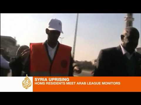 Syrians protest as Arab monitors visit