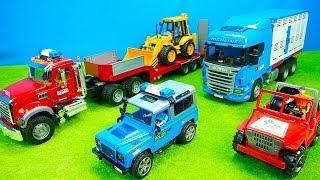Polizei & Schwerlasttransporter, Traktoren & Tiertransport, Bagger & Mischerauto, Bruder, Kinderfilm