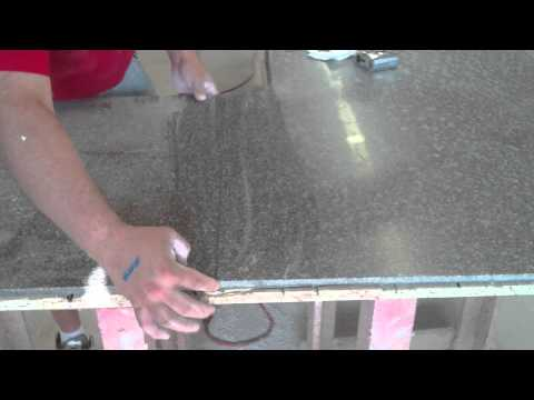 How to solid surface deck seams on custom Living stone countertops