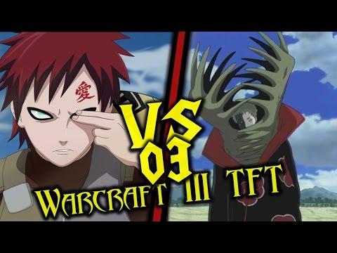 Warcraft III: TFT - Naruto Battle Royal - 03 - Zetsu vs Gaara