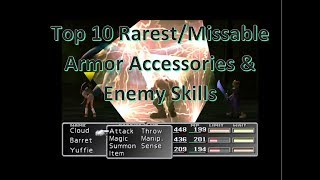 Top 10 Rarest/Easily Missed Armor Accessories & Enemy Skills