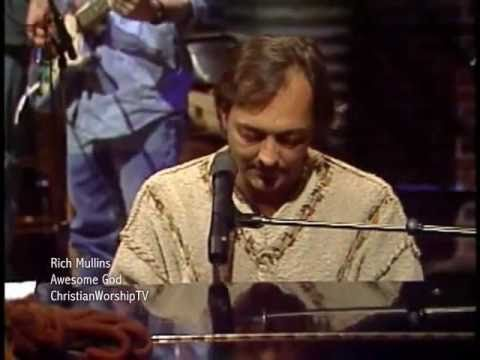Rich Mullins - Awesome God - With Lyrics subtitles video