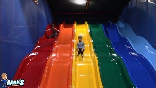Adam's Adventures | Billy Beez - GIANT obstacle courses and playgrounds with ball pits and slides!!