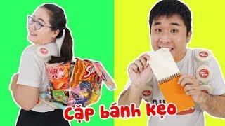 Cách Làm Chiếc Cặp Bánh Kẹo Mang Vào Lớp | Học Sinh Bá Đạo Ăn Giấy Tin Được Không ?