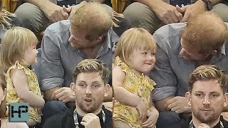 CUTENESS OVERLOAD WITH PRINCE HARRY & THIS LITTLE GIRL