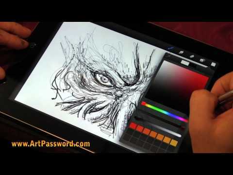Francoise Launet drawing on Ipad 3