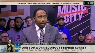 ESPN FIRST TAKE | Curry: 24 Pts in Warriors loss to Clippers; Are you worried about Stephen Curry?
