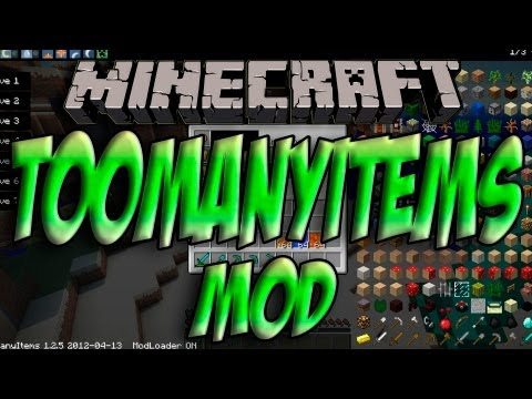 Minecraft 1.5.2 - Como Instalar TOO MANY ITEMS MOD - ESPAÑOL HD] 1080p