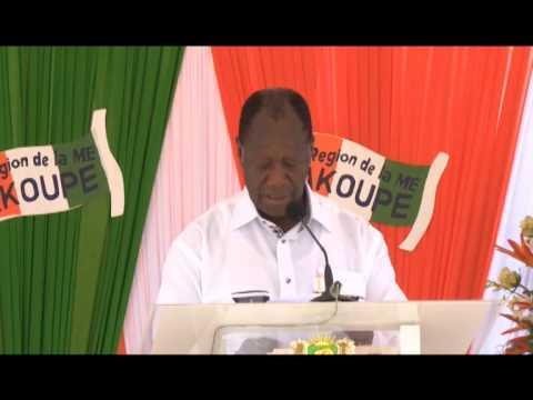 Visite d'Etat : Meeting du Président Alassane Ouattara à Akoupé