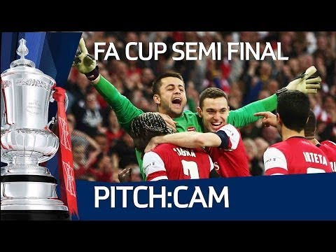 Pitch:cam Exclusive Angles Of Arsenal Vs Wigan Athletic's  Fa Cup Semi Final At Wembley video