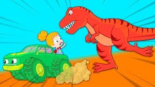 Baby dinosaur is lost! - Groovy The Martian educational cartoon for children \u0026 nursery rhymes