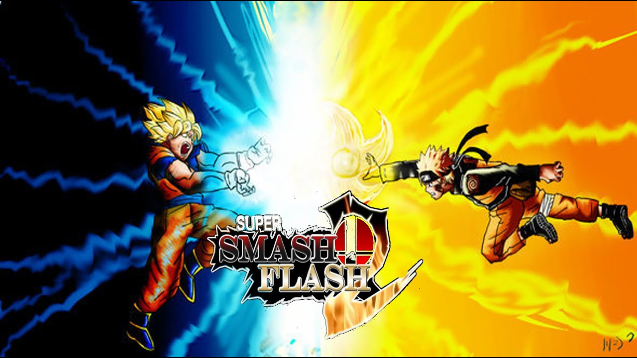 Super smash flash 2 rasengan vs kamehameha youtube
