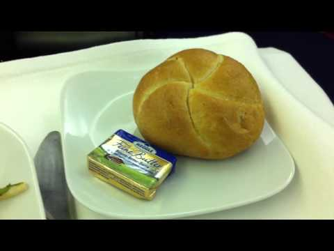 Lufthansa Business Class airline meal food Part 1/4
