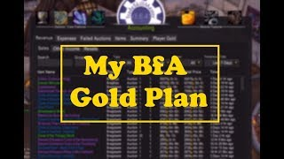 My Gold Plan for the Start of BFA