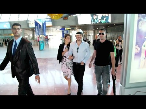 Ian Somerhalder and Nikki Reed at Nice airport leaving Cannes Film Festival