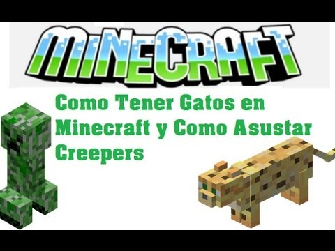 Tutorial Como Tener Gatos en Minecraft y Como Asustar Creepers