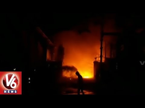 Massive Fire Accident At Rubber Company In Bollaram | Hyderabad | V6 News