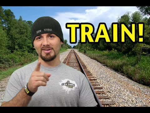 HIT BY A TRAIN!
