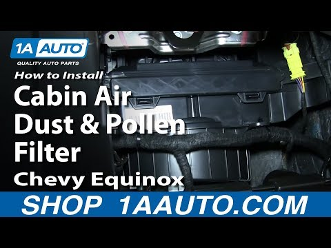 How To Install Replace Change Cabin Air Dust and Pollen Filter Chevy Equinox GMC