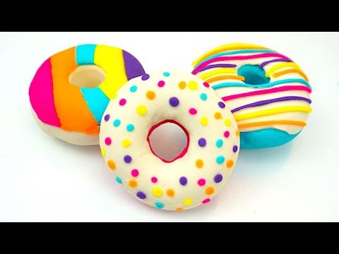 Пластилин плей-до. Делаем плей-до пончики, мороженое, сюрпризы. Игрушкин ТВ