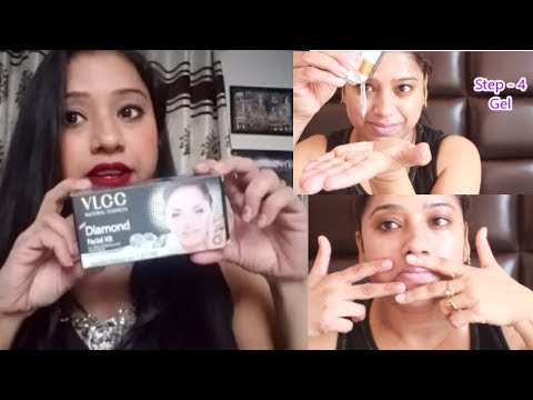 VLCC Diamond Facial Step By Step For Shiny & Sparkling Skin || Get Parlour Like Facial At Home