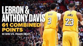 LeBron and Anthony Davis Combine For 61 Points in Win vs. Heat | Lakers NBA Highlights
