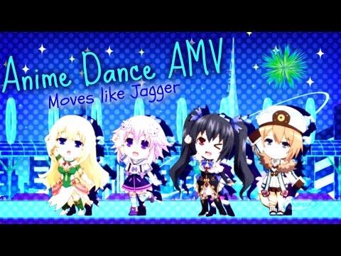 Anime Dance AMV - Moves like Jagger