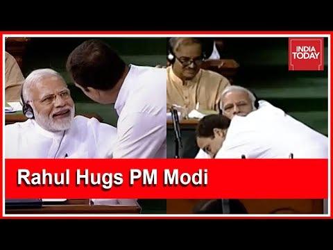 You Can Call Me Pappu, I Have No Anger: Rahul Gandhi Hugs PM Modi After Lok Sabha Speech thumbnail