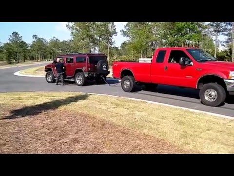 Ford f250 .vs. Hummer!