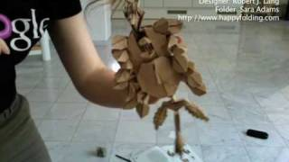 Time Lapse Of An Origami Fold: Black Forest Cuckoo Clock (robert Lang)