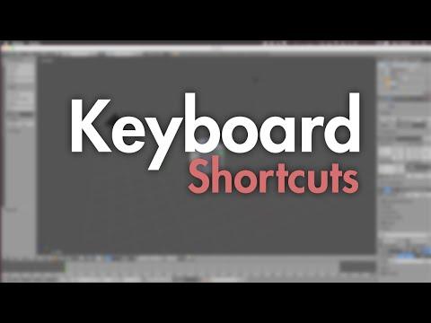 Blender Tutorial: Keyboard Shortcuts