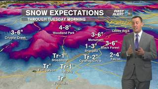 Accumulating snow possible in Colorado Springs overnight