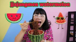 Làm Tô Mì Trộn Tương Đen Dưa Hấu - Jjajangmen Watermelon