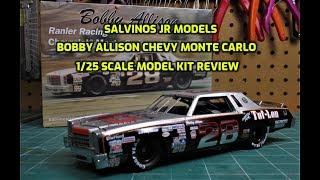 Salvinos JR Bobby Allison #28 Monte Carlo Tuf-Lon Ranier Racing 1/25 Scale Model Kit Build Review
