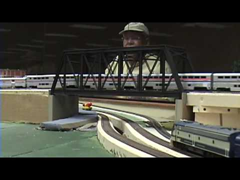 Amtrak's California Zephyr, 1995, CIRC layout Video