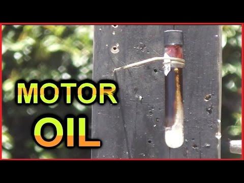 Test Tube Torture Test:  MOTOR OIL
