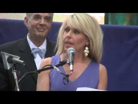 Monica Crowley intro'd by radio's John Batchelor at Stop Iran Rally, NYC 22 July '15 [15]