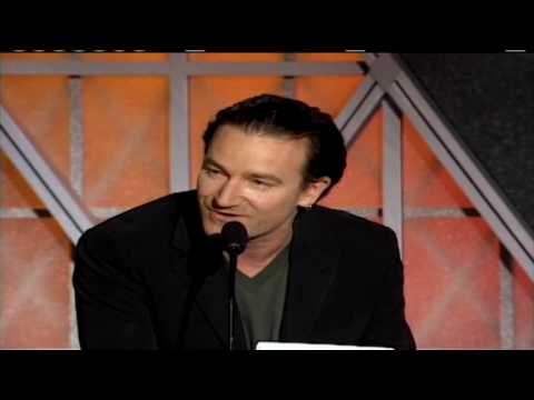 Bono Inducts Bruce Springsteen into the Rock and Roll Hall of Fame in 1999