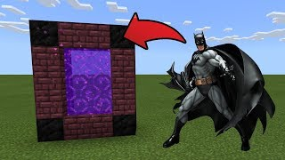 How To Make a Portal to the Batman Dimension in MCPE (Minecraft PE)